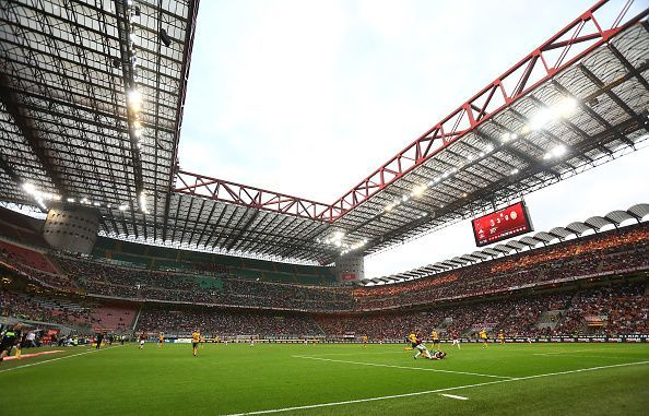San Siro stadium, which is shared by AC Milan and Inter