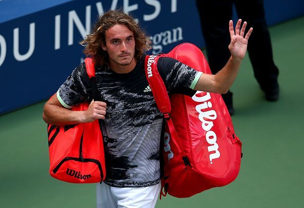 Tsitsipas fell in the first round to Rublev