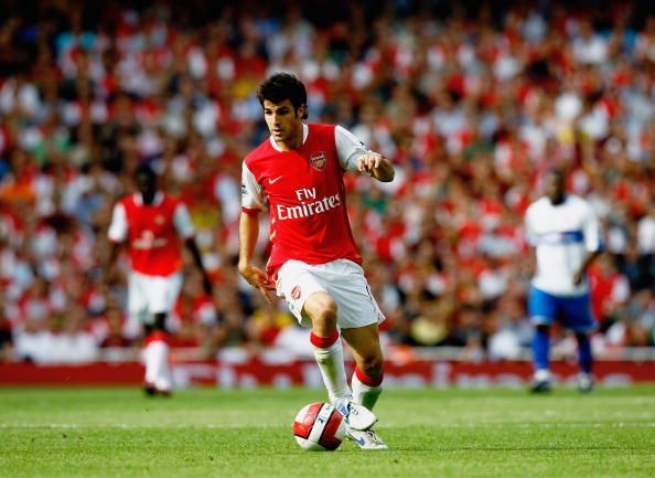 Cesc Fabregas in action for Arsenal