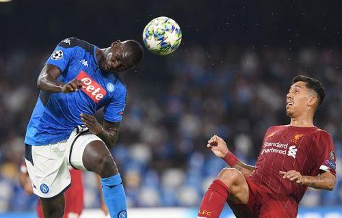 Napoli's defensive guardian, Kalidou Koulibaly (l)