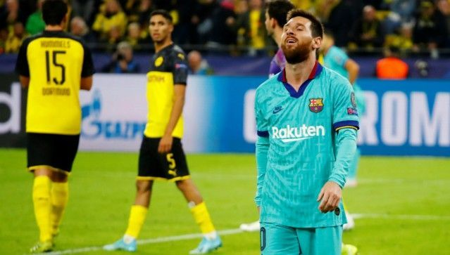 Messi featured in the second half but was unable to inspire Barca to victory against Borussia Dortmund
