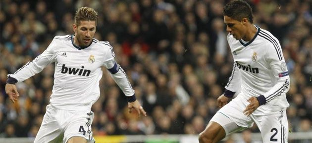 Sergio Ramos and Raphael Varane