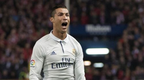 Cristiano Ronaldo is the only player to score two Liga hat-tricks in the Madrid derby