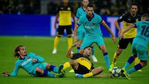 Barcelona and Dortmund played out a 0-0 draw