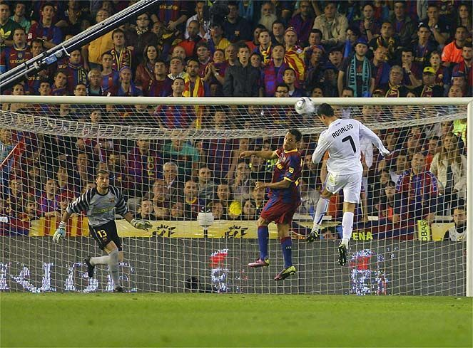 Ronaldo scored the only goal in the 2011 Copa del Rey final
