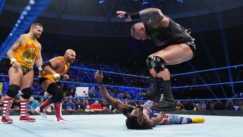 Randy Orton brutalized Kofi Kingston on SmackDown Live this week