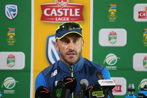 Faf du Plessis will lead South Africa in the 3 match Test series against India.