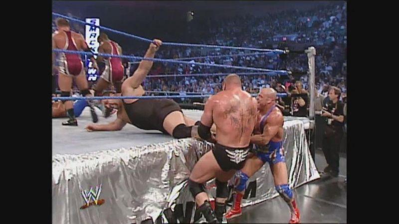 Brock Lesnar and Kurt Angle teaming up