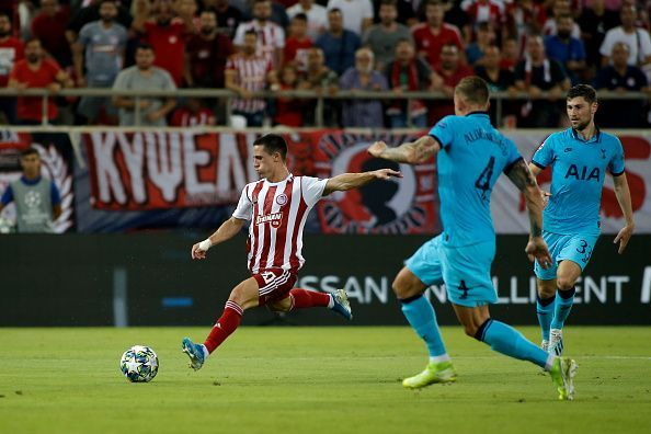 Olympiacos FC and Tottenham Hotspur played out a 2-2 draw in Group B UEFA Champions League