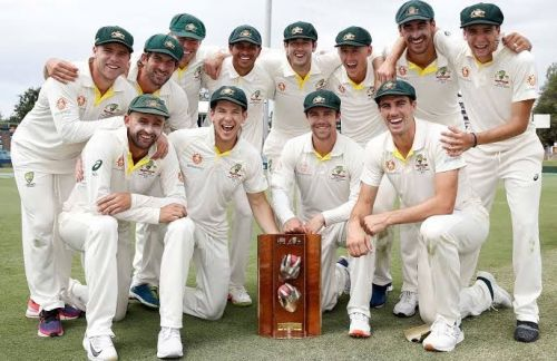 ऑस्ट्रेलिया टीम सीरीज जीतने के बाद