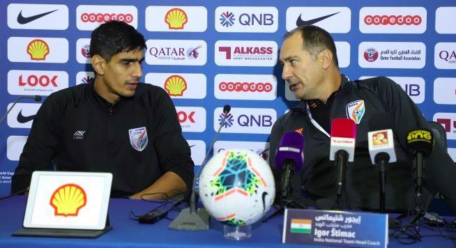 Goalkeeper Gurpreet Singh Sandhu with Head Coach Igor Stimac