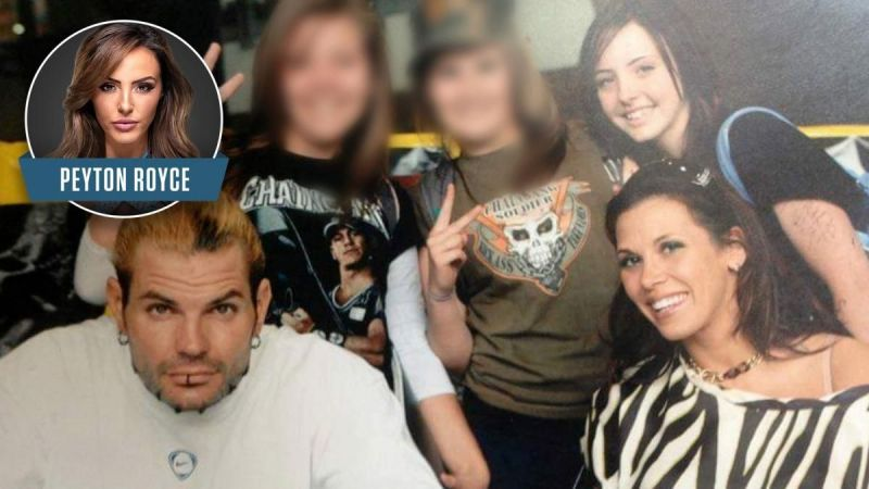A young Peyton Royce with Jeff Hardy!