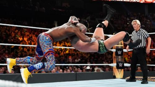 The Viper was wiped out by the WWE Champion