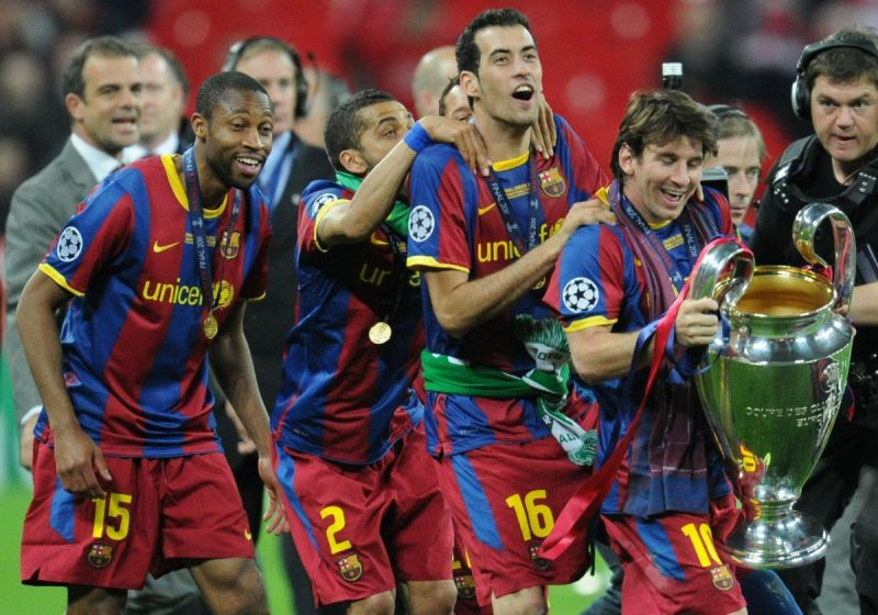 Messi helped Barcelona to the 2011 Champions League trophy