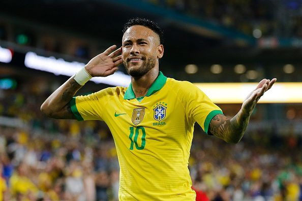 Neymar made a goalscoring return for Brazil after a spell on the sideline with an injury.