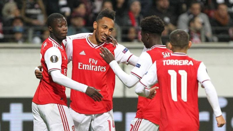 Arsenal notched a 3-0 victory against Frankfurt