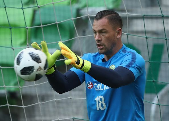 First-choice goalkeeper Danny Vukovic has been excluded from the Champions League squad due to injury