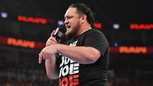 Samoa Joe faced Baron Corbin and Ricochet on Raw on September 9