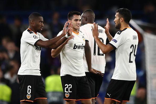 Maxi Gomez was on target twice for Valencia
