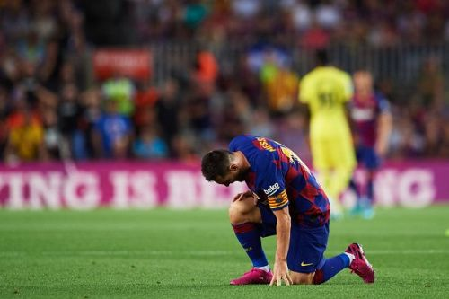 Messi suffered an injury against Villareal