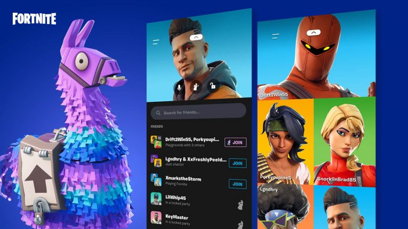 Party Hub (Image credit: Epic Games)