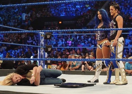 Bayley and Banks attack Charlotte