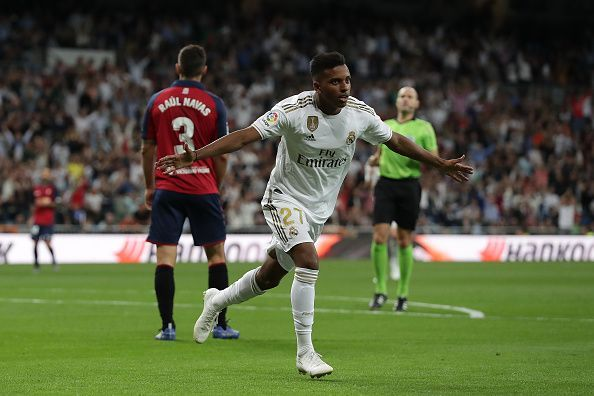 Rodrygo scored in his first start for Real Madrid against Osasuna