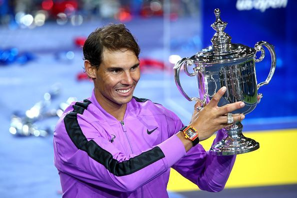 Nadal celebrates his 4th title at the US Open