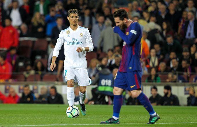 Ronaldo (left) and Messi