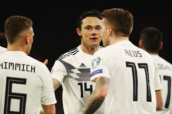 Nico Schulz has emerged as a regular starter for Germany but Marco Reus is the heart of this side
