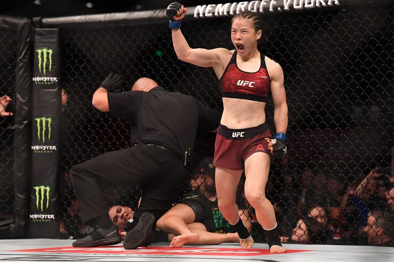 Weili Zhang took just 42 seconds to dethrone Jessica Andrade for the Strawweight title