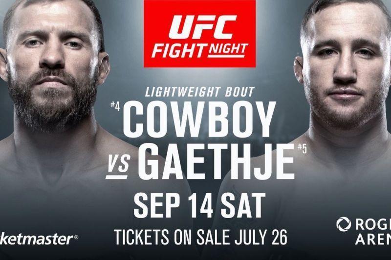 UFC Fight Night 158: Cerrone vs Gaethje
