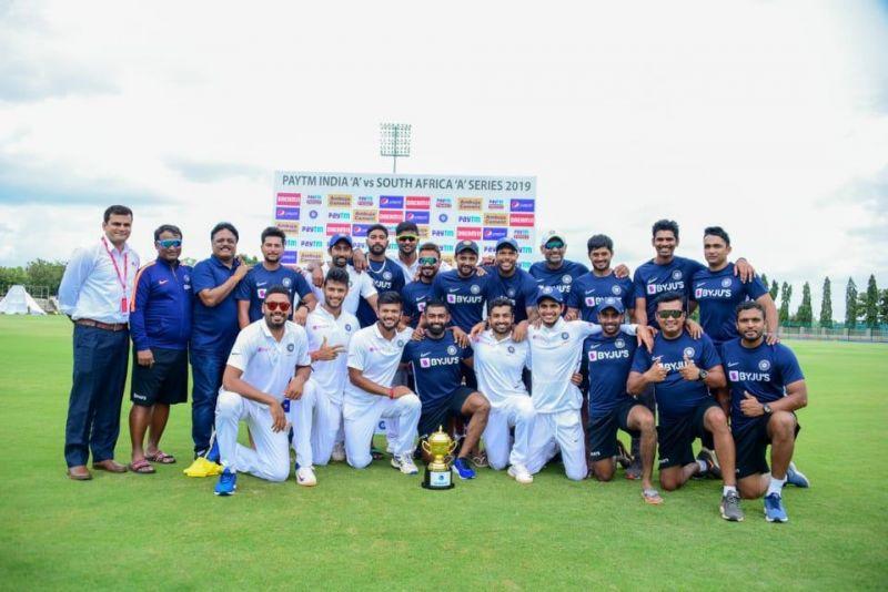 भारत ए ने दक्षिण अफ्रीका ए को सीरीज में 1-0 से हराया (फोटो: Twitter)