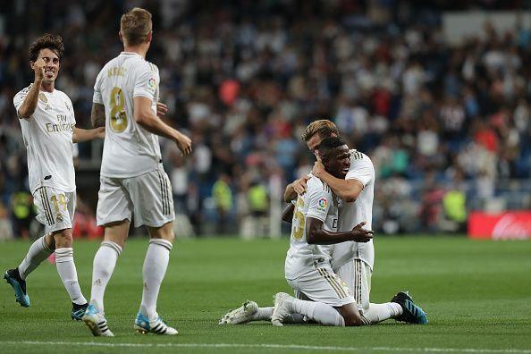 Vinicius Jr opened the scoring for Real Madrid against Osasuna