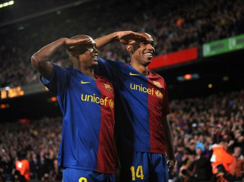 Eto'o built quite an understanding with Henry and Messi at Barcelona
