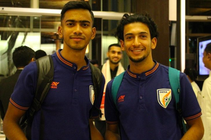 The Indian National Football Team arriving in Guwahati