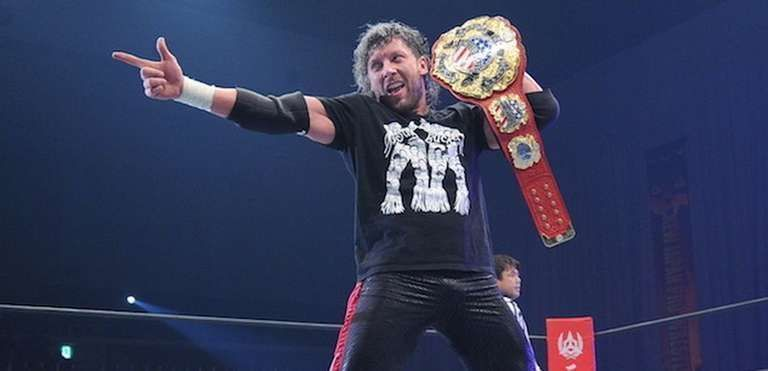 Kenny Omega as the IWGP United States Heavyweight Champion