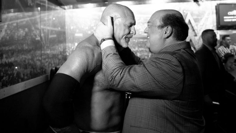 Goldberg and Paul Heyman.