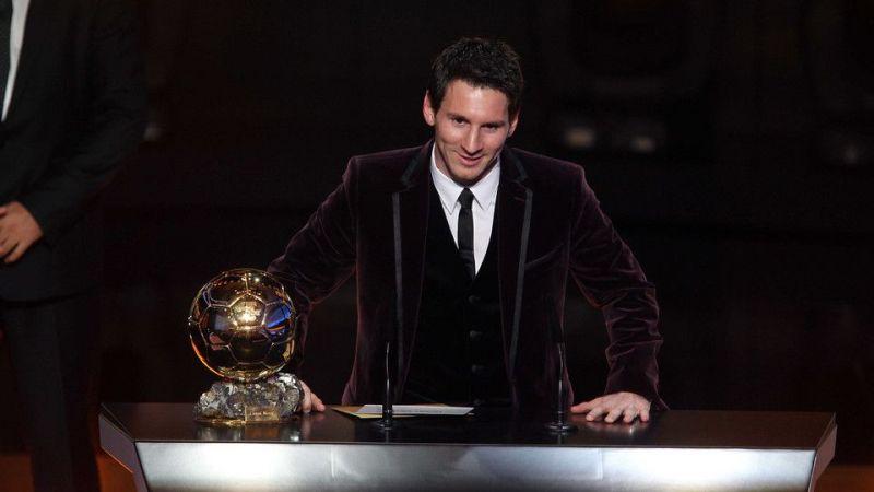 Messi won a third consecutive Ballon d