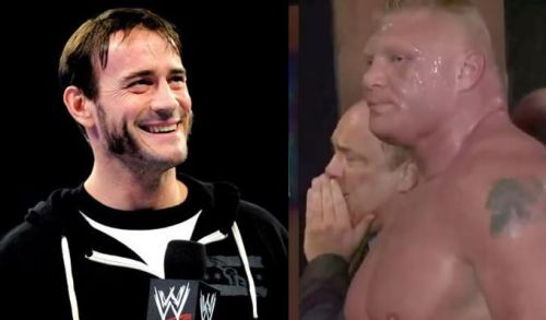 CM Punk and Brock Lesnar