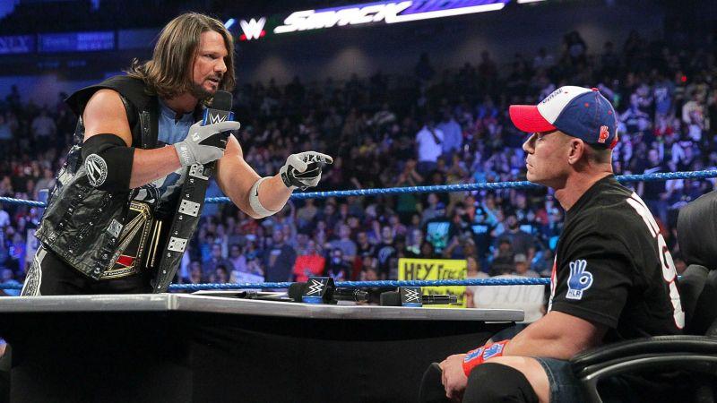 AJ Styles and John Cena.