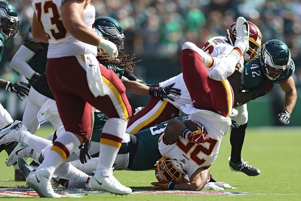 Chris Thompson gets tackled