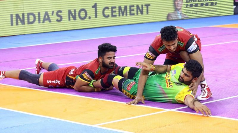 Pardeep Narwal's Super 10 could not help his side win the match against Bengaluru Bulls