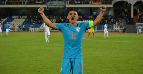 Sunil Chhetri was full of praise for his teammates after the historic draw against Qatar.