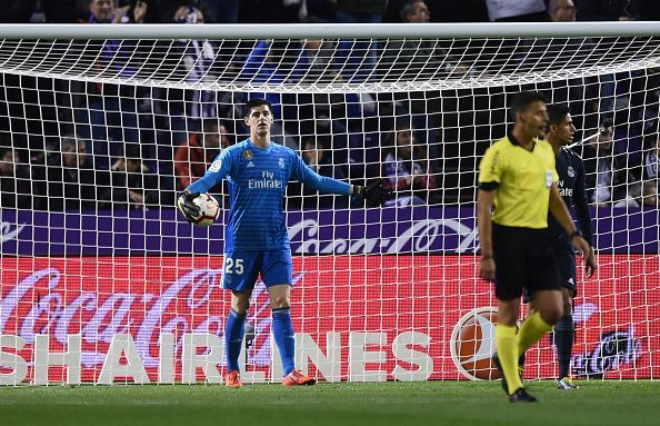 Courtois made a brilliant reflex save at the death