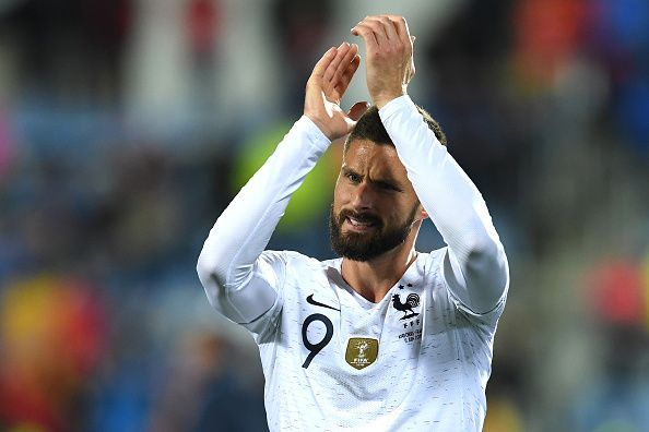 Olivier Giroud was on the France scoresheet for the game against Albania.