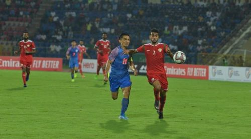 Two late goals from Oman's Al-Mandhar swung the game in their favour