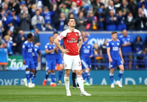 Granit Xhaka has been playing with an achilles injury for weeks