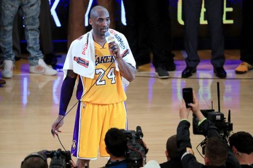 Kobe Bryant played with the Lakers his whole career but was not drafted by them