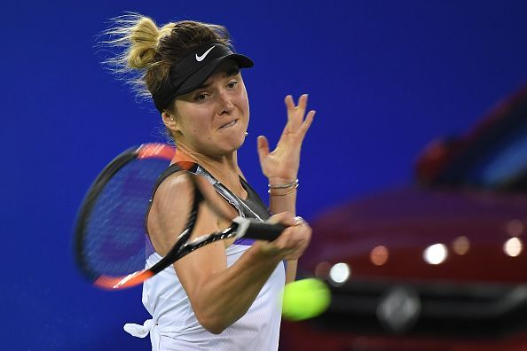 Svitolina in action on Day 5 of the 2019 Wuhan Open